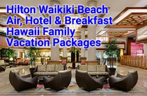 Hilton Waikiki Beach family vacation packages start at $861 per person, double occupancy.