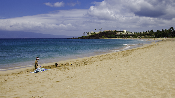 Kaanapali Beach, home of many Hawaii resorts.