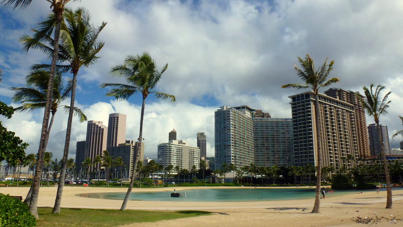 Waikiki, where you will find most Oahu hotels.