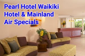 Pearl Hotel Waikiki 3 night air and hotel packages start at $606 per person, double occupancy with roundtrip from select west coast cities.