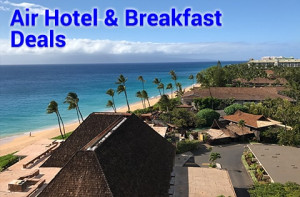 Air Hotel & Breakfast Hawaii travel deals starting from $694 per person, double occupancy.