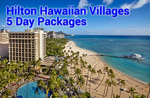 HawaiiVacation Slide 5 Panda Travel Promotion Images - Hilton Hawaii Village 480x315