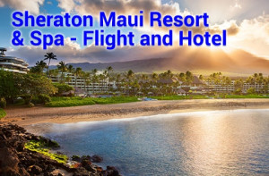 Maui air and hotel vacations start from $943 per person, double occupancy with round trip air from the west coast and 3 night hotel stay.