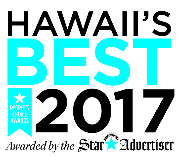 Award for being one of the best travel agencies in Hawaii.