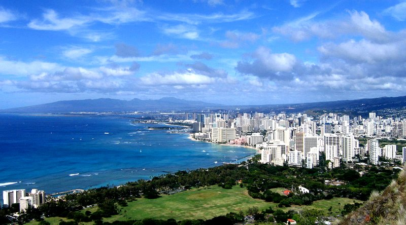 View from the summit of Diamond Head