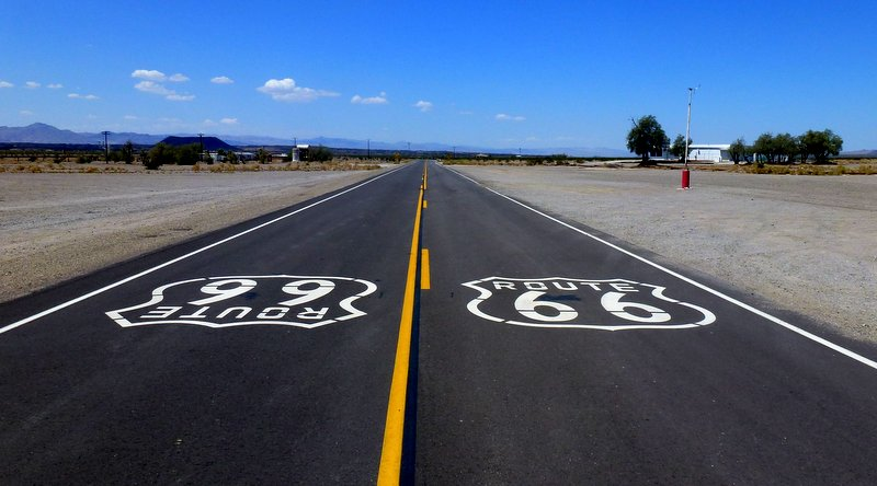 Route 66 in Amboy, California