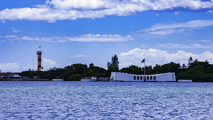 The Arizona Memorial, one of the free things to do on Oahu.