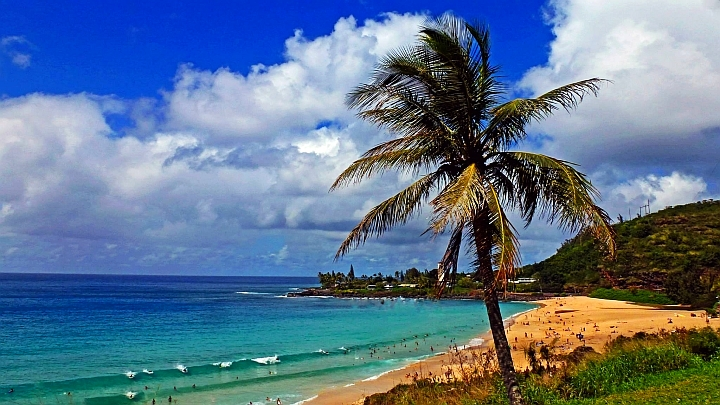 Waimea Bay, another one of the attractions on Oahu.