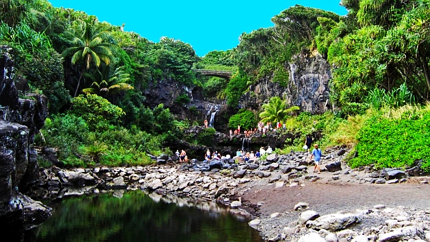 The Seven Sacred Pools, one of the places that can be visited from a number of Maui hotels.
