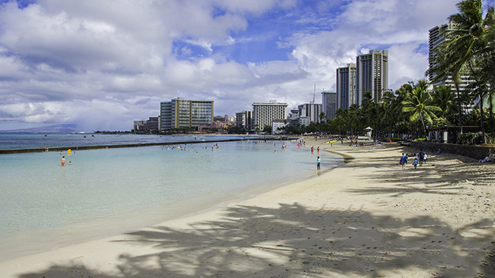 Wakiki, the perfect place for Oahu vacations.