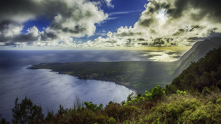 See Molokai's rugged beauty on Hawaii multi island vacation packages.