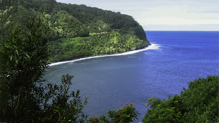 View from along the Hana Highway