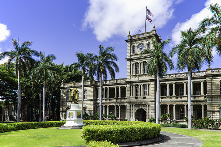 See the statue of King Kamehameha on walking tours of Honolulu.