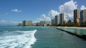 Waikiki Beach, one of the places you can visit on Hawaii multi island vacation packages.