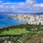 Hiking on Diamond Head, one of the free things to do on Oahu.