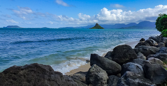 Chinaman's Hat, one of the many roadside attractions on Oahu.