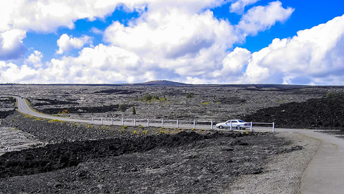 Lava fields, one of the attractions on the Big Island.