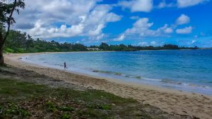 A secluded beach on the Windward side, one of the many great attractions on Oahu.