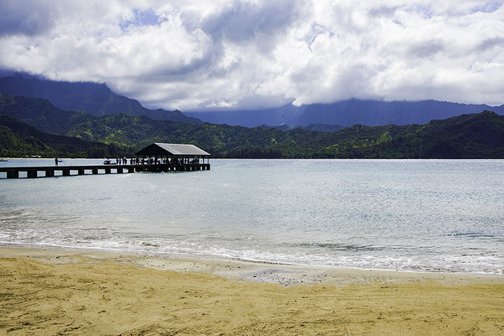 Hanalei Bay, an iconic place to visit on Kauai vacations.