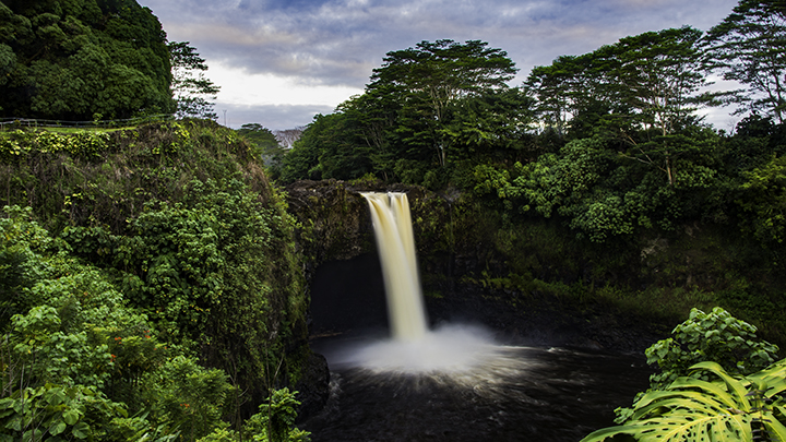 Rainbow Falls, one of the memorable Hawaiian waterfalls.