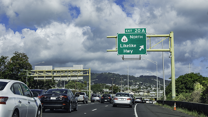 Traffic, one of the downsides of visiting Honolulu.