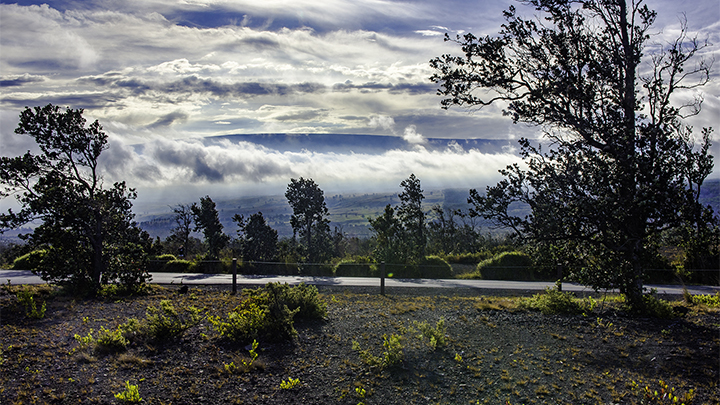 Mauna Loa is one of the mountains that is to protect the islands during hurricane season in Hawaii.