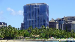 Mainland air and hotel package at Trump International Hotel Waikiki starting at $1.027 per person, double occupancy.